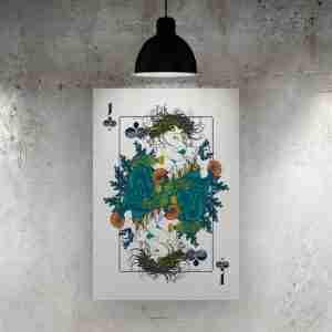Jack of Clubs Art Print – ONDA