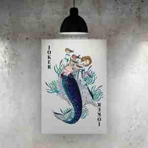 Joker Mermaid Art Print – ONDA