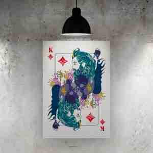 King of Diamonds Art Print – ONDA