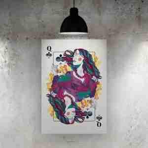 Queen of Clubs Art Print – ONDA