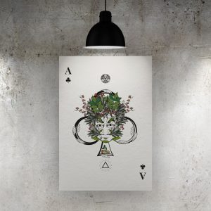 Ace of Clubs Art Print – The Green Man