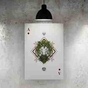 Ace of Diamonds Art Print – The Green Man
