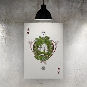 Ace of Hearts Art Print – The Green Man