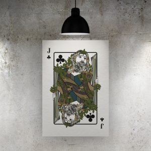 Jack of Clubs Art Print – The Green Man
