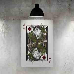Jack of Diamonds Art Print – The Green Man