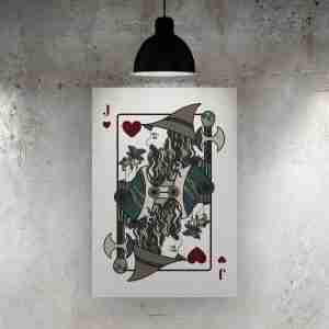 Jack of Hearts Art Print – The Green Man