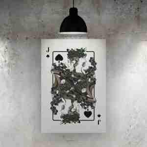 Jack of Spades Art Print – The Green Man
