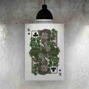 King of Clubs Art Print – The Green Man