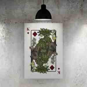 King of Diamonds Art Print – The Green Man