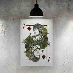 Queen of Diamonds Art Print – The Green Man